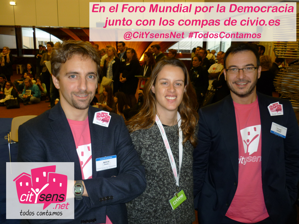 CitYsens at the World Forum for Democracy, with Civio